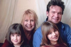 Tori and Russ Taff and their young daughters in 1998